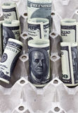 Rotoli del dollaro Fotografia Stock