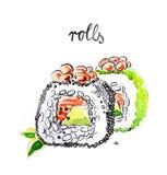 Rotoli dell'acquerello Royalty Illustrazione gratis