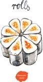 Rotoli dell'acquerello - illustrazione di vettore Illustrazione di Stock