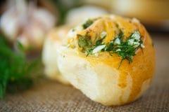 Rotoli dell'aglio Fotografia Stock