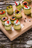 Rotoli dello zucchini Fotografie Stock