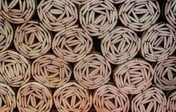 Rotoli di bambù delle foto dall'angolo superiore fotografie stock