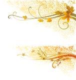 Rotoli di lerciume di autunno Fotografia Stock