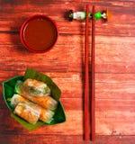 Rotoli di molla del wafer del Vietnam Immagini Stock