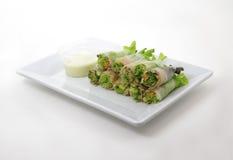 rotoli di molla dell'insalata di tonno Immagini Stock