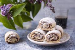 Rotoli di Nutella fotografia stock libera da diritti