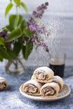 Rotoli di Nutella immagini stock