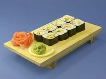 Rotoli di sushi Fotografia Stock