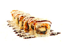 Rotoli di sushi Fotografie Stock
