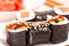 Rotoli di sushi del Giappone Fotografia Stock