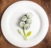 Rotoli di sushi del vegano Fotografia Stock Libera da Diritti
