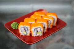 Rotoli di sushi di California Immagine Stock
