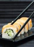 Rotoli di sushi di Filadelfia Fotografie Stock Libere da Diritti