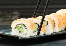 Rotoli di sushi di Filadelfia Immagini Stock Libere da Diritti
