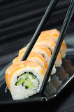 Rotoli di sushi di Filadelfia Fotografia Stock Libera da Diritti
