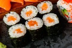 Rotoli di sushi di Maki Fotografia Stock