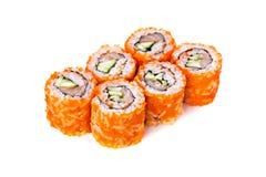 Rotoli di sushi giapponesi freschi Fotografia Stock