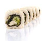 Rotoli di sushi isolati Immagini Stock