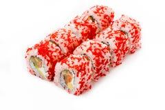 Rotoli di sushi isolati, fondo bianco Immagini Stock Libere da Diritti