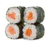 Rotoli di sushi isolati su un bianco Fotografia Stock
