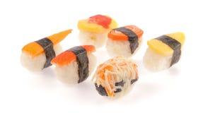 Rotoli di sushi messi Immagini Stock