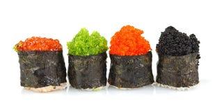 Rotoli di sushi messi Fotografie Stock Libere da Diritti