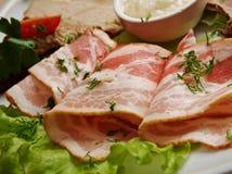 Rotoli freschi del bacon Fotografie Stock Libere da Diritti