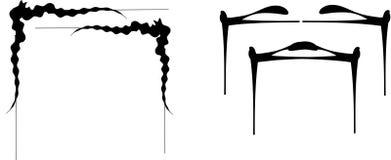 Rotoli per gli angoli dei serpenti e dei pagodas Fotografia Stock Libera da Diritti