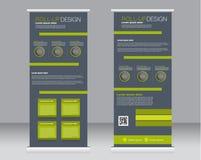 Rotoli sul modello del supporto dell'insegna Fondo astratto per progettazione, Fotografia Stock