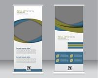 Rotoli sul modello del supporto dell'insegna Fondo astratto per progettazione, Immagine Stock