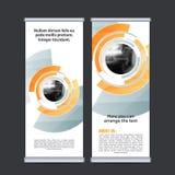 Rotoli sul vettore verticale del modello di progettazione dell'insegna di affari Immagine Stock Libera da Diritti