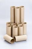 Rotoli vuoti della carta velina della toilette di Brown Immagine Stock