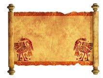 rotolo 3d di vecchia pergamena Fotografie Stock Libere da Diritti