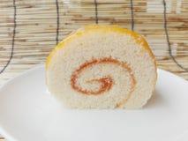 Rotolo arancio del dolce Fotografia Stock Libera da Diritti