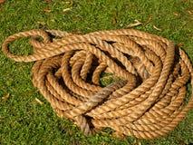 Rotolo arrotolato della corda Immagini Stock