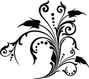 Rotolo, cartouche, decorazione, vettore Fotografie Stock