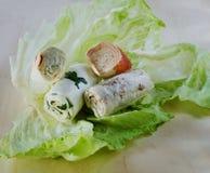 Rotolo con il formaggio di Suluguni Immagine Stock