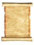 rotolo 3d di vecchia pergamena Immagini Stock