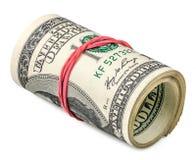 Rotolo dei dollari Immagini Stock Libere da Diritti
