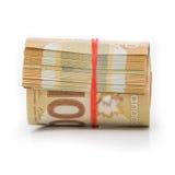 Rotolo dei dollari canadesi Immagine Stock Libera da Diritti