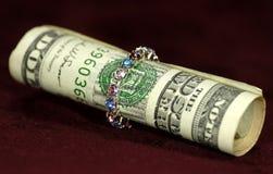 Rotolo dei soldi Immagini Stock