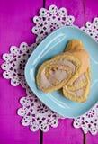 Rotolo del biscotto Fotografia Stock