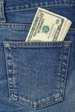 Rotolo del denaro per piccole spese Fotografia Stock