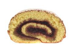 Rotolo del dessert, farcito con inceppamento, isolato Immagine Stock Libera da Diritti