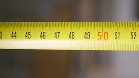 Rotolo del nastro di misurazione - macro archivi video