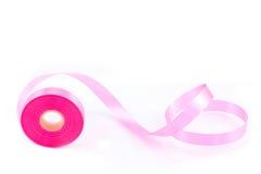 Rotolo del nastro rosa Fotografia Stock