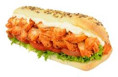 Rotolo del sottomarino del panino di Tandoori del pollo Fotografia Stock Libera da Diritti