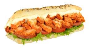 Rotolo del sottomarino del panino di Tandoori del pollo Immagini Stock Libere da Diritti