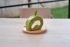 rotolo del tè verde fotografie stock