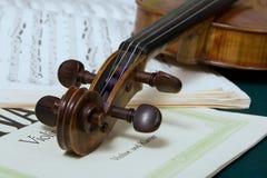 Rotolo del violino Fotografia Stock Libera da Diritti